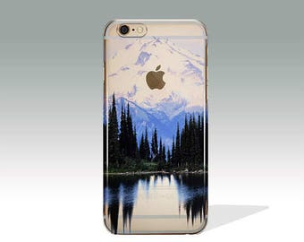 iPhone 7 Case Mountains Clear iPhone 7 Plus Case iPhone 7 Case Clear iPhone 6 Case iPhone 6s Case Silicone iPhone Case Christmas Gift //110
