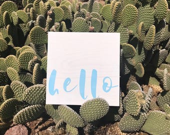 hello sign, wood sign, wood signs, signs, signs with words, wall hangings, wall decor, home decor, farmhouse style, hand painted signs