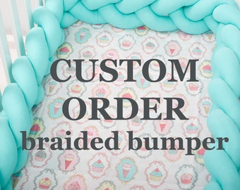Braided Crib Bumpers custom order Pillow, Knot Cushion, Nursery Decor Bolster Pillow, Photo zone cot bumpers crib bumper baby linen, bedding
