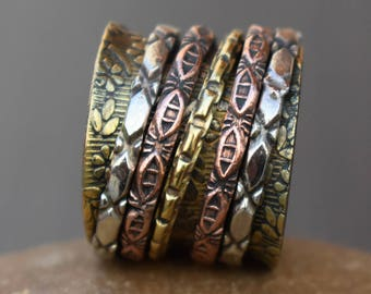 Tribal spinner rings | Finger spinning band ring | Valentines day gift jewelry ring | Festive wear rings | Wide worry spinning ring | R217
