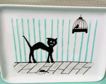 "Plate ""Scared cat"""