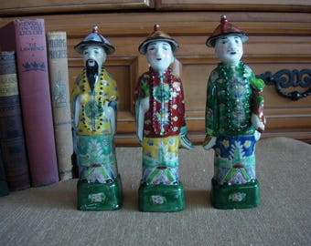 Chinese Porcelain Figures Hand Painted (set of 3)