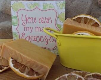 Handmade Natural Lemon Turmeric Soap; Lemongrass Essential Oil Soap; Lemon Essential Oil Soap; Herbal Soap; Bath Soap