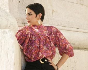 Vtg. floral blouse.
