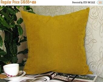 20% off Mustard Pillow, Mustard Velvet Pillow, Mustard Velvet Pillow Cover, Mustard Velvet Decorative Pillow,  Mustard Couch Pillow, Mustard