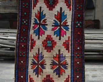 BIG SALE 9.6 x 2.5 Feet Handmade Moroccan wool Vintage runner