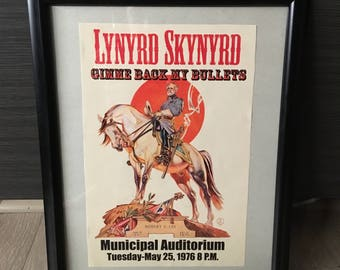 """Framed """"Lynrd Skynyrd"""" Tour Poster"""