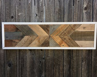 Reclaimed Wood Decor - Geometric Art - Modern Wall Hanging - Wood Wall Art