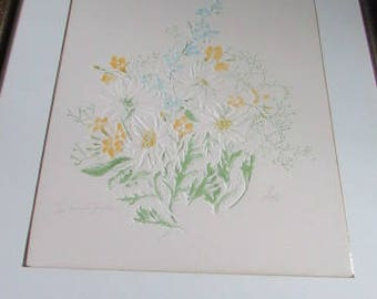 "ROZY BRANDWAYN Print...""French Garden""...10/200 Hand colored...1978...Signed.Framed/Matted...NICE!!!"