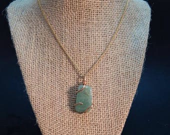 jade and copper necklace 18 inch