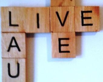 Live Laugh Love Scrabble-Style Sign
