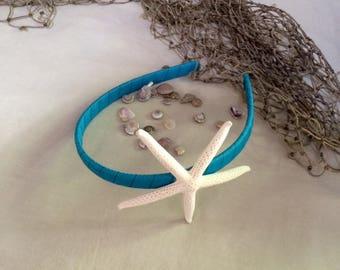 Mermaid Starfish Turquoise Headband