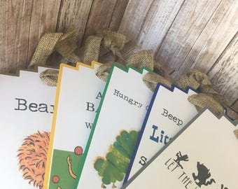 Story Book Theme Activity Station Signs