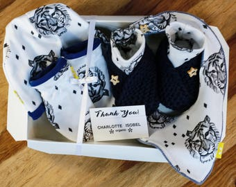 Tiger Baby Hat Set Take Home Hospital Outfit Monochrome Baby Gift Set Gender Neutral