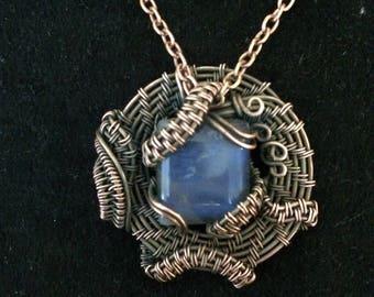 Labradorite and copper necklace
