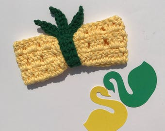 PATTERN - Pineapple Pucker Bow - Crochet Pattern