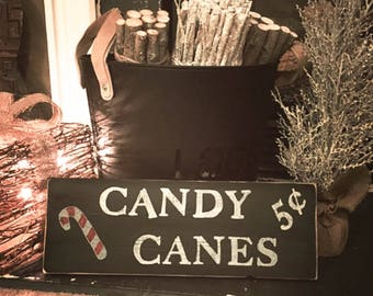 Candy Cane Sign, Christmas Sign, Rustic Christmas Sign, Christmas Decor, Wood Christmas Sign, Holiday Decor, Candy Sign, Farmhouse Decor