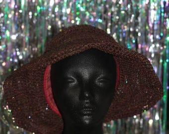 Seagrass Brown Straw Hat *New with Tags