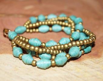 Paper Beads Bracelet / Splendid Strands Bracelet