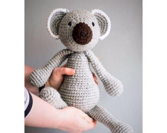 Crochet koala, plush koala, Amigurumi koala