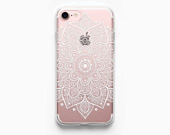 iPhone 7 Case Mandala iPhone 6 Case iPhone 7 Plus Case iPhone 6 Plus Case iPhone 6s Case iPhone 5s Case iPhone 6s Plus Case Boho Clear Art.