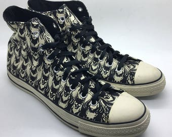 NEW Deadstock RARE Converse Chuck Taylor SKULLS Hi-top Sneaker Shoes Mens 11