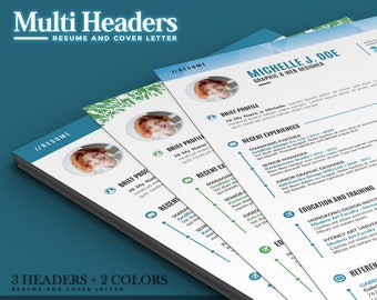 professional resume template cv template 4 best selling