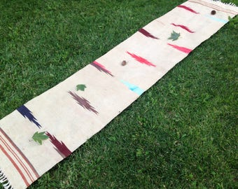 Turkish Rug - Kilim Rug - Area Rug - Handmade Rug - Vintage Rug - Rug - Carpet - Anatolian Rug - Decorative Rug//255 x 57 cm = 8,3 x 1,8 ft