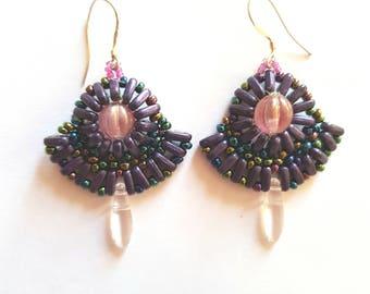 """Earrings """"Crystal & Rainbow"""""""