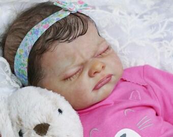 Nine by Adrie Stoete reborn baby girl