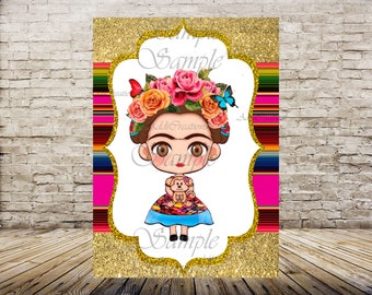 Frida Kahlo Poster, Banner, Party Decor,