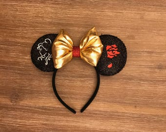 belle ears / minnie ears / beauty and the beast ears / disney ears