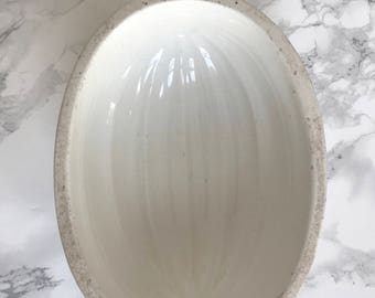 Beautiful fine earthenware mold of oval shape