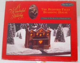 Vintage It's A Wonderful Life, The Bedford Falls Boarding House, Christmas Decoration, Good Used Normal Condition
