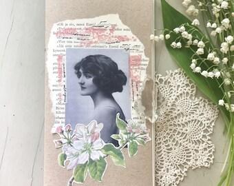 Vintage Art Journal | Mixed Media Journal | Handmade Notebook | Notebook Insert | Travellers Notebook Insert