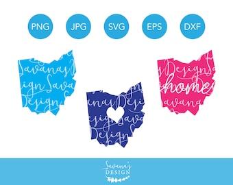 Ohio SVG, Ohio SVG Files, Ohio SVG Designs, Ohio Home Svg, Svg Ohio, Ohio Clipart, Ohio Cut File, Ohio Dxf, Svg Ohio State, Ohio State Svg