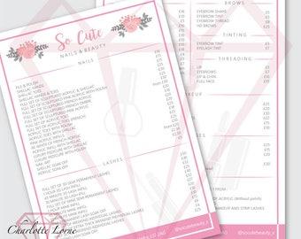 Flyers - Price Lists - Leaflets - Custom/ Bespoke Design Service - Digital Designs Available