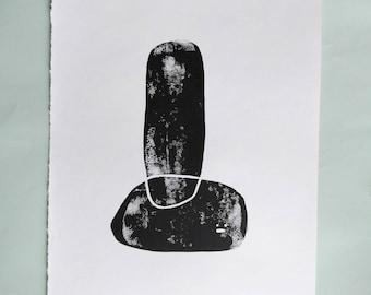 stones linoprint