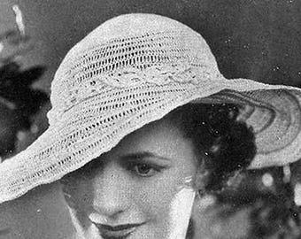 Cappello all'uncinetto anni 30 da giardino - Garden Party Hat