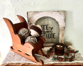 Wooden Christmas Sleigh- Vintage