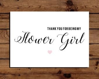 Flower Girl Thank You Card A5 With Envelope