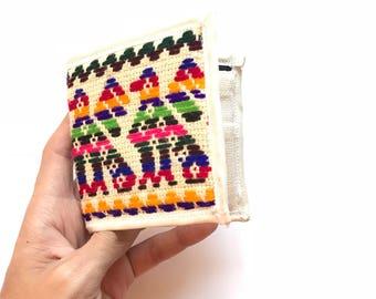 Mexican wallet, mexican coin purse, coin purse, change wallet, mexican purse, mexico zipper pouch, embroidered wallet, Mexican embroidery