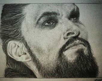 Khal Drogo - Pencil Portrait (ORIGINALE/ORIGINAL) - no print