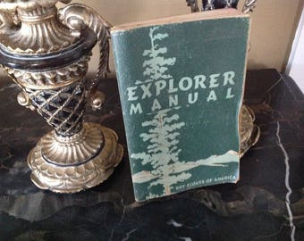 Explorer Manual Boy Scouts of America 1954 printing