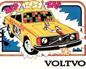 1976 Wonderbread Crazy Cars Voltvo Volvo Trading Card