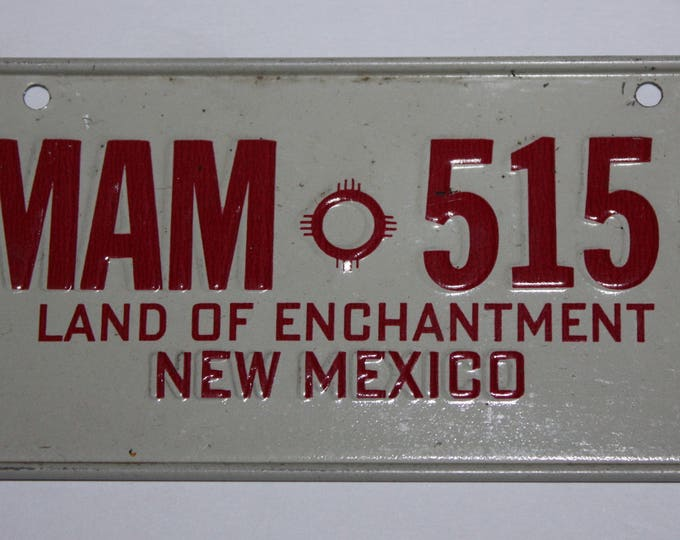 1978 New Mexico Land of Enchantment Wheaties Post Cereal Premium Bike Mini Metal License Plate