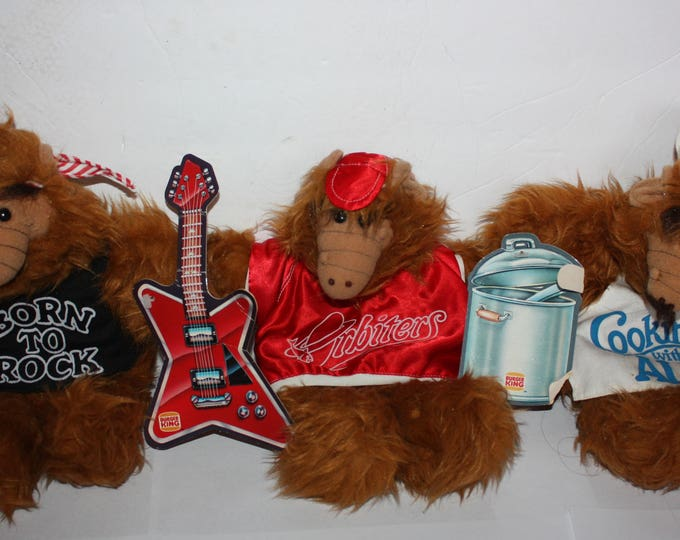 Vintage Lot of 3 Alf TV Show Puppets from Bruger King 1988