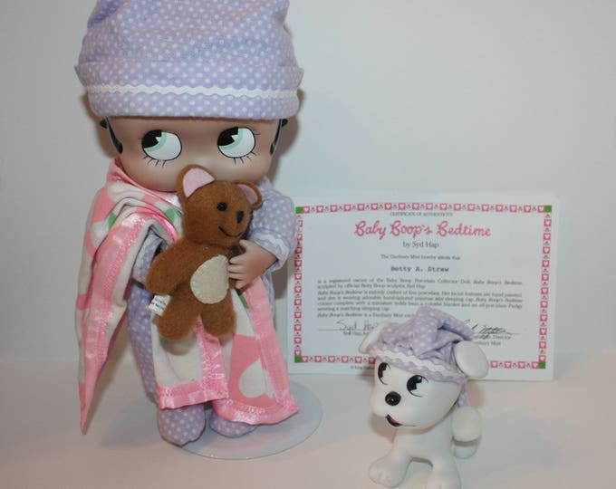 Betty Boop Baby Boop's Bedtime Porcelain Collector Doll Danbury Mint 1997