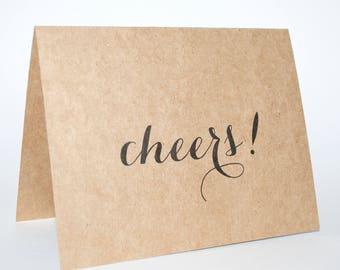 Greeting cards : Craft paper A2 cards, Hello, Cheers, Customizable