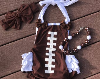 Football outfit baby girl football outfit football onesie football football shirt football romper toddler football outfit baby halter baby s